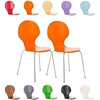 Besucherstuhl Konferenzstuhl Wartezimmerstuhl Küchenstuhl Holz braun #Calisto