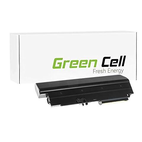 Green Cell® Extended Série 42T5225 Batterie pour Lenovo IBM ThinkPad T61 T400 R61 R61i R400 Ordinateur PC Portable (9 Cellules 6600mAh 10.8V Noir)