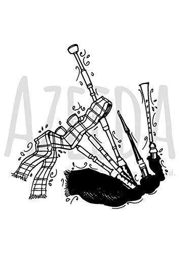 Azeeda A7 'Dudelsack' Stempel (Unmontiert) (SP00012839)