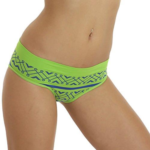 6er Pack Damen Seamless Panty gemustert Mehrfarbig