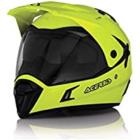 Casco Helmet Helm Capacete ACERBIS ACTIVE motard enduro quad atv (L, GIALLO FLUO - YELLOW FLUO)