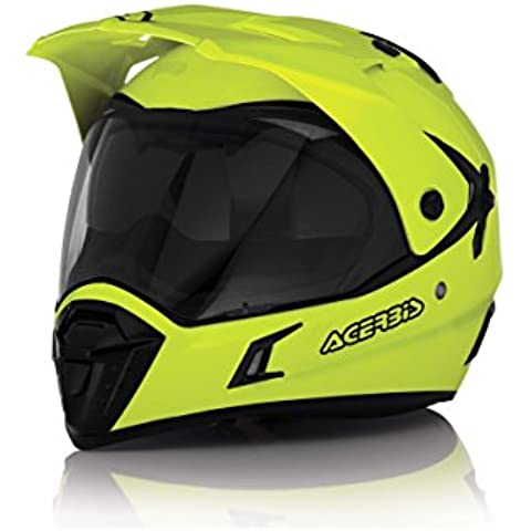 Casco Helmet Helm Capacete ACERBIS ACTIVE motard enduro quad atv (S, GIALLO FLUO - YELLOW FLUO)