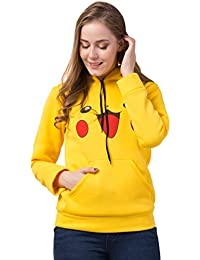 FUNDAY FASHION Pikachu Hoodie Sweatshirt for Women and Girls