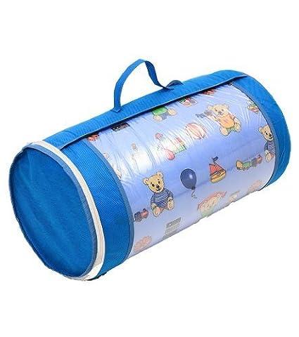 Kinderbettmatratze Babymatratze 60x120 cm Kinder Rollmatratze mit Reisetasche und TÜV, Tasche, Bezug 100% kuschelweiche Microfaser