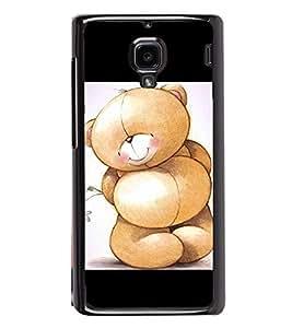 Cute Bear 2D Hard Polycarbonate Designer Back Case Cover for Xiaomi Redmi 1S :: Xiaomi Redmi 1