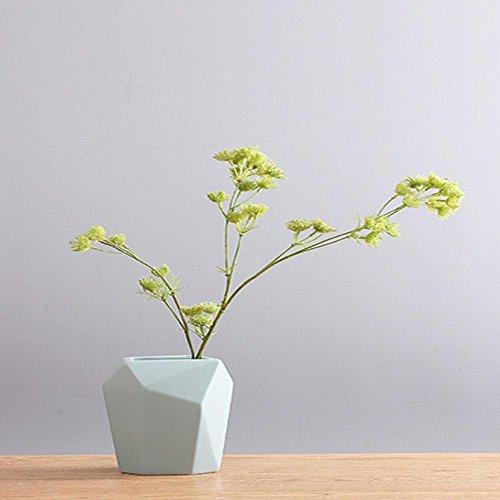 LUXURYDREAM Elegantes Modernes Einfaches Art-Neuheit-Entwurfs-Normallack-Ausgangsdekor, Tabellen-Mittelstück, Küche-Dekoration-Porzellan-Vase , Blue