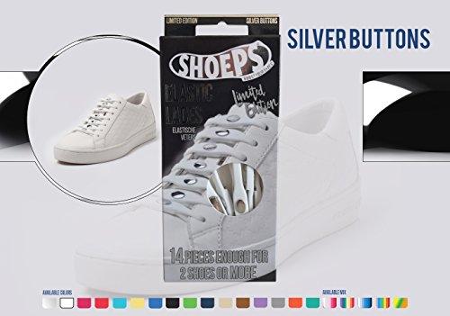 Shoeps Elastic Schnürsenkel silber silber Normal (14 im Pack)