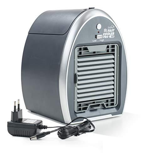 Genius Fast Cooler Pro | Mobiles Klimagerät | 3 in 1 - Klimaanlage, Ventilator & Raumbefeuchter | Tragbar & ohne Chemikalien - nur mit Wasser