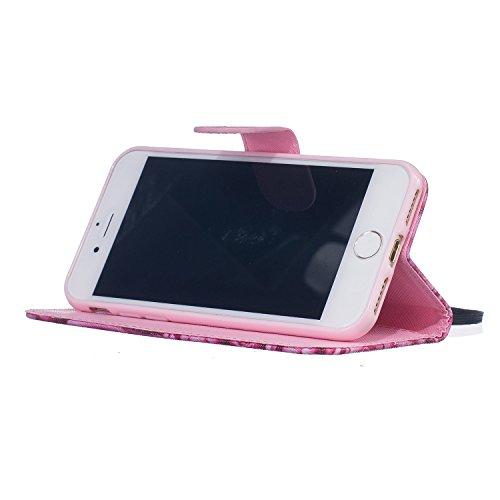 """inShang iPhone 7 Coque 4.7"""" Housse de Protection Etui pour Apple iPhone7 4.7 Inch,Coque Avec support fonction, Pochette super- utile, Wallet design with card slot Wallet 05"""