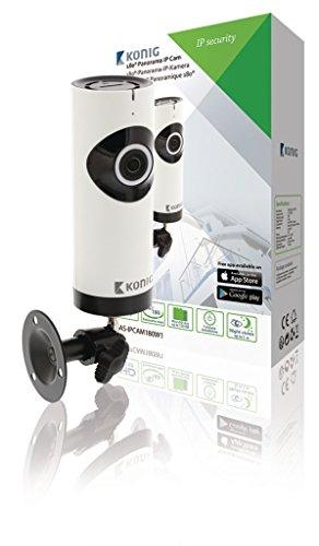 König SAS-IPCAM180W1 IP-Sicherheitskamera Innenraum Schwarz, Weiß 1280 x 720Pixel - Sicherheitskameras (IP-Sicherheitskamera, Innenraum, 100 m, Schwarz, Weiß, Tisch/Bank, 1280 x 720 Pixel)