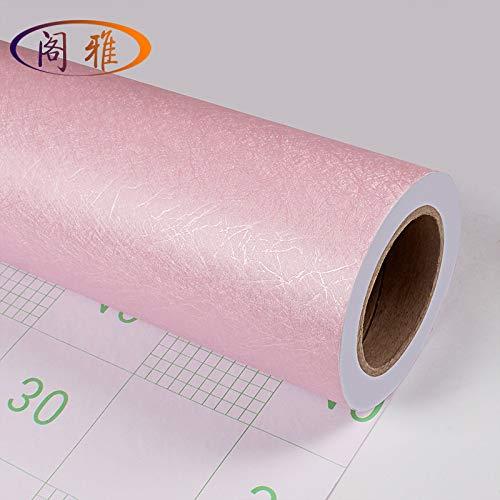 Einfach Seide (Selbstklebende Tapete, wasserdichte einfarbige Seide einfache Tapete Schlafzimmer Wohnzimmer Wandaufkleber hellgelbe Seide, 60cm)