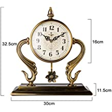 CWLLWC Reloj De Mesa De Sobremesa De Metal Reloj De PéNdulo Reloj Creativo DecoracióN Sala De