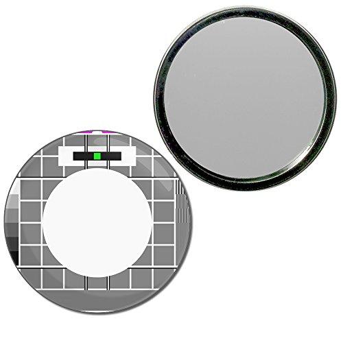 TV Test Card - 55mm ronde de miroir compact