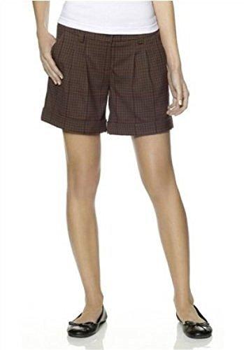 Bemudas - Shorts von Boysen`s für die Dame in Braun Kariert Braun