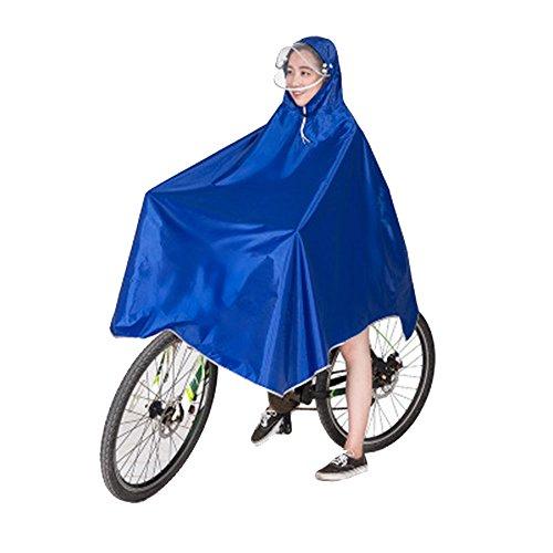 Fahrrad Regenponcho, Tragbar Atmungsaktiv mit Kapuze, Regenmantel Wasserdicht, Regenbekleidung Fahrrad Regenschutz für Fahrradfahrer (Blau) Atmungsaktive Regenbekleidung