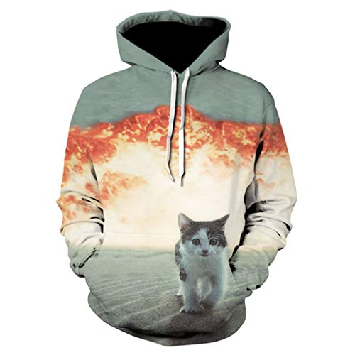 3D-Druck Pullover ◆Elecenty◆ Hoodies Graphic Patterns Print Galaxy Hoodies Langarmpullover Sweatshirt Pockets Unisex Hooded Outwear Tops