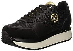 Idea Regalo - Guess Tiffany, Sneaker Donna, Nero Black, 37 EU