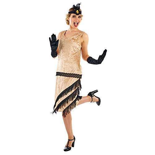 Girl Kostüm Flapper Fringe - Fun Shack Damen Costume Kostüm, Charleston Girl, Größe S