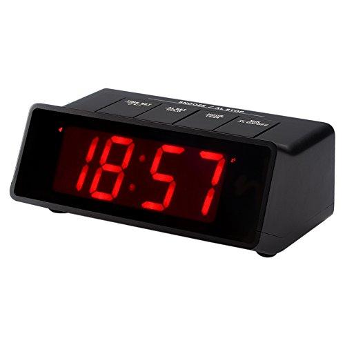 Kwanwa 110db Super lauter Wecker für schwere Sleeper, 4 x AA Batterien nur angetrieben und halten die große 1,2-Zoll-LED-Zeitanzeige für mehr als 14 Monate ohne Externe Stromversorgung