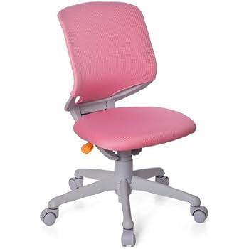 Hjh OFFICE 712040 Chaise De Bureau Enfant Evolutive KID MOVE GREY Rose En Tissu