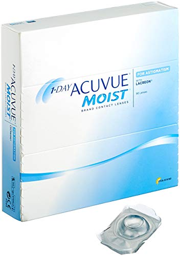 Acuvue 1-Day Moist for Astigmatism Tageslinsen weich, 90 Stück / BC 8.5 mm / DIA 14.5 / CYL -0.75 / Achse 160 / -8.5 Dioptrien