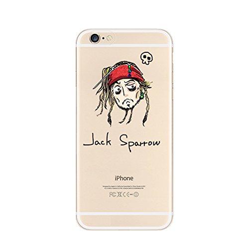 Coque souple en TPU avec motif de personnages de dessin animé Disney et super-héros pour Apple iPhone 5/5S, 6 et 6 Plus Transparent , plastique, JACK SPARROW, Apple iPhone 4