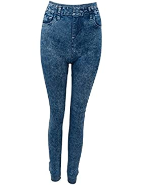 TOOGOO (R) Pantalon Pantalones Largos Leggings Leggin Elastico Talla unica para Mujer