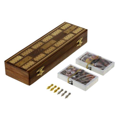 Preisvergleich Produktbild SpielCribbage-Mainboardsfestgelegt,2Kartendecks,6Metall-HeringemitSpeicher
