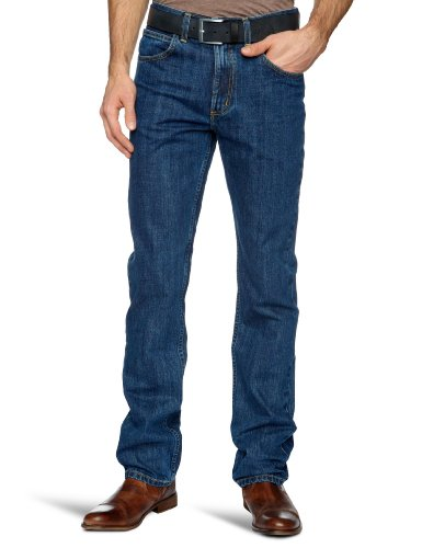 Lee BROOKLYN BROWN L81390WB Herren Jeanshosen/ Lang, Gerades Bein (Straight Leg) Blue-Black Stonewash