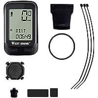 didatecar - Códigos de bicicleta de mesa velocímetro inalámbrico impermeable bicicleta odómetro automático de despertador 22 funciones de bicicleta ordenador