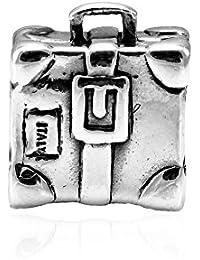 Memuà SY27 ESPLORATORE, ciondolo in argento 925 a forma di valigia da viaggio