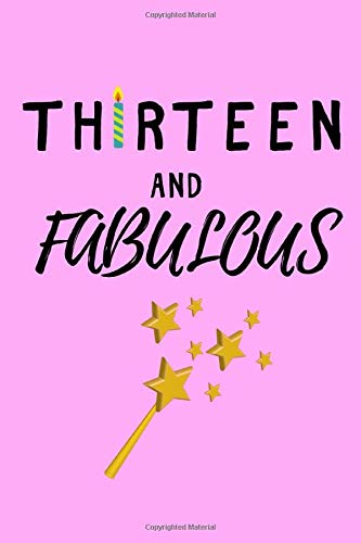 Thirteen and Fabulous: Cute Pink Cover, Lined Notebook, Journal 13th birthday gift for friends and family - Party Planner - Familie Womens Pink T-shirt