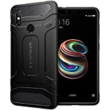 Kapaver Rugged Solid Shock Proof Slim Armor Case For Xiaomi Redmi Note 5 Pro (Black)