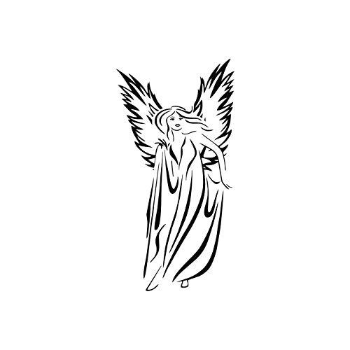 jiushizq Weibliche Engel Wandtattoos Vinyl Abnehmbare Aufkleber Auf Wand Mädchen Mit Flügeln Wandaufkleber Steuern Dekor Wohnzimmer 59 cm X 116 cm (Weibliche Namen Superhelden)