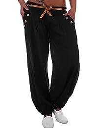 498210739186 Koly Pantalon Sarouel Femme Chic Yoga Sport Pantalon Taille Haute Large  Jambe Bouffant Femme Palazzo Pantalons Amples Solide Simple Casual Loose  Pants ...