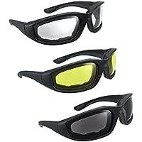 Triclicks 3 Paars Unisex Bikebrille Motorradbrille Sonnenbrille Motocross Bike Brille Antifog UV400 Fahrradbrillen Schutzbrille dBz9WZljLp