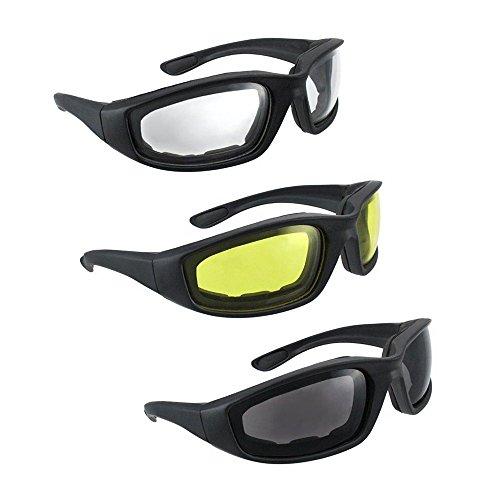 Triclicks 3 Paars Unisex Bikebrille Motorradbrille Sonnenbrille Motocross Bike Brille Antifog UV400 Fahrradbrillen Schutzbrille