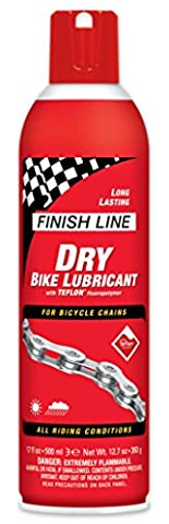 Finish Line DRY Bike Lubricant with Teflon (17-Ounce Aerosol)