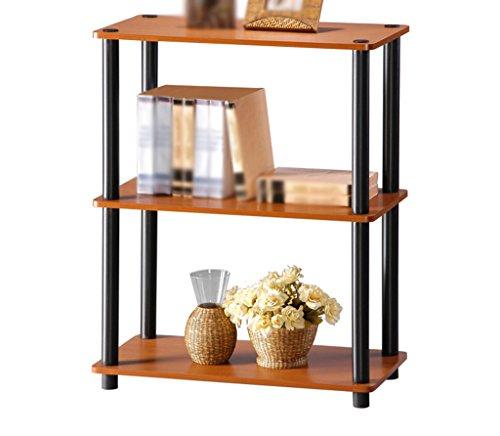 DFHHG® Librería Libro Stand 60 (L) * 29.5 (W) * 75.5 (H) Cm Madera de cerezo Color Tres capas Sala de estar Rack de almacenamiento simple durable