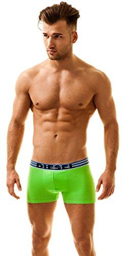 Diesel Herren 3 Pack Boxershorts Männer Boxer Trunk Unterwäsche Panties Multipack Unterhosen Multi-Navy