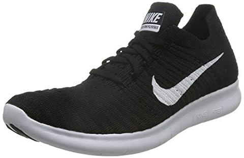 Nike Herren Free RN Flyknit Laufschuhe, Schwarz (Schwarz/Weiß), 43 EU