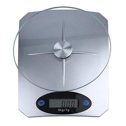 AchidistviQ Digitale Küchenwaage, Haushaltswaage, 5 kg/1 g, Präzisionswaage, elektronisch, LCD-Digital-Küchenwaage multi