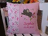 Kissen zur Geburt,Taufe (Elefand 1 rosa)