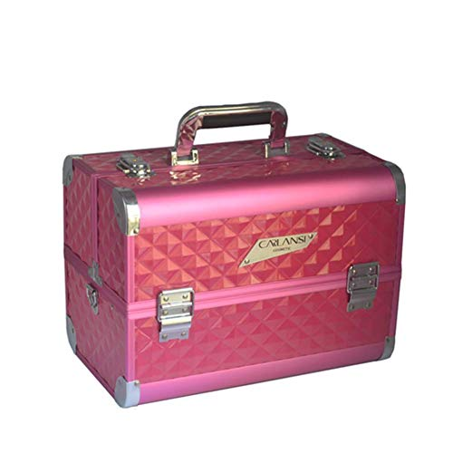 Aluminiumkosmetik Case Professional Portable Large Beauty Kit,Red