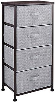 AmazonBasics Fabric 4-Drawer Storage Organizer Unit for Closet, Bronze