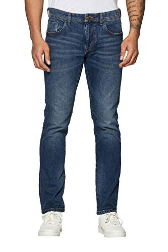 Dark Wash Blue Jean (edc by ESPRIT Herren 029Cc2B004 Slim Jeans, Blau (Blue Dark Wash 901), W30/L36 (Herstellergröße: 30/36))
