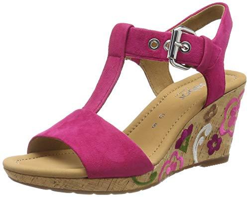 Gabor Shoes Damen Comfort Sport Riemchensandalen, Mehrfarbig (Pink (FL.Mu.) 21), 38 EU - Damen Pink Schuhe