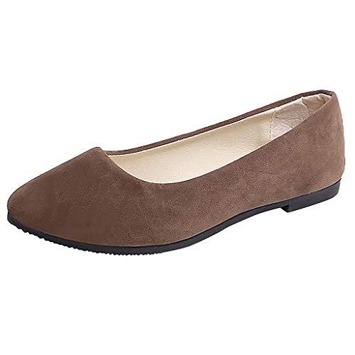 Ears Frauen Beiläufige Einzelne Schuhe Normale Schuhe Große Größen Beleg auf flachen flachen Komfortschuhen Sommer Römische Schuhe Vintage Böhmische Schuhe Casual Strand Sandalen (Tanz Kostüm Auf Linie)