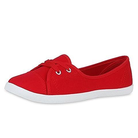 best-boots , Baskets pour femme - Rouge - Textil Rot,