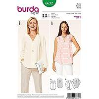 Burda B6632 Patron de Couture Tunique, Papier, Blanc, 19 x 13 x 1 cm